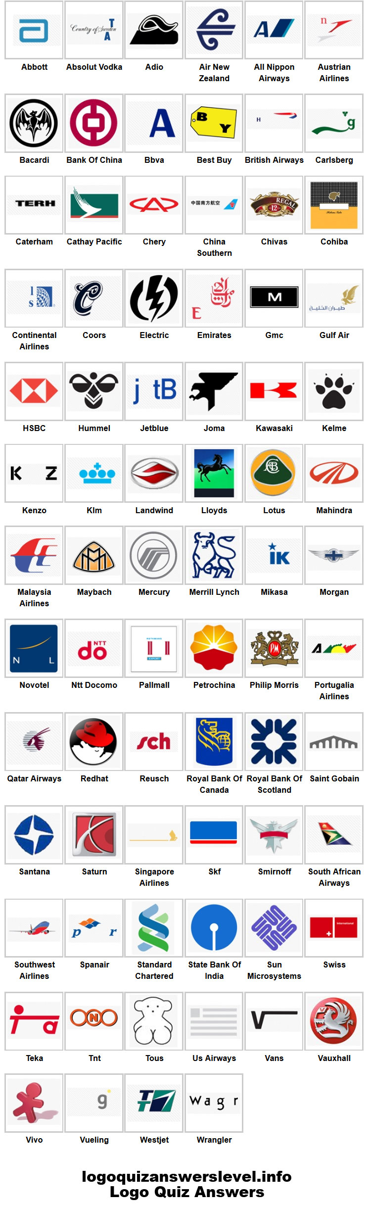 Company Logos Game Answers Logo quiz answers, Logo quiz