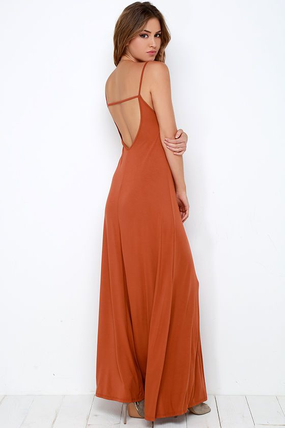 30c15fc54271 Sunset the Pace Rust Orange Maxi Dress in 2019 | All the pretty ...