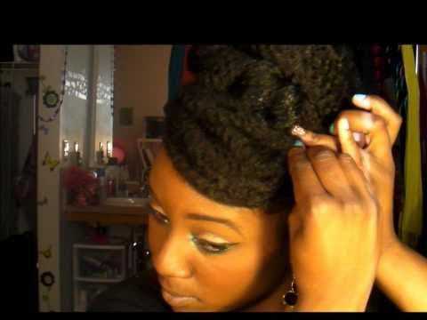Oh, snap! So cute!~ MissGlamourGirl1992: Natural Hair (Protective Style): Faux bun and Faux bang tutorial #protectivestyles