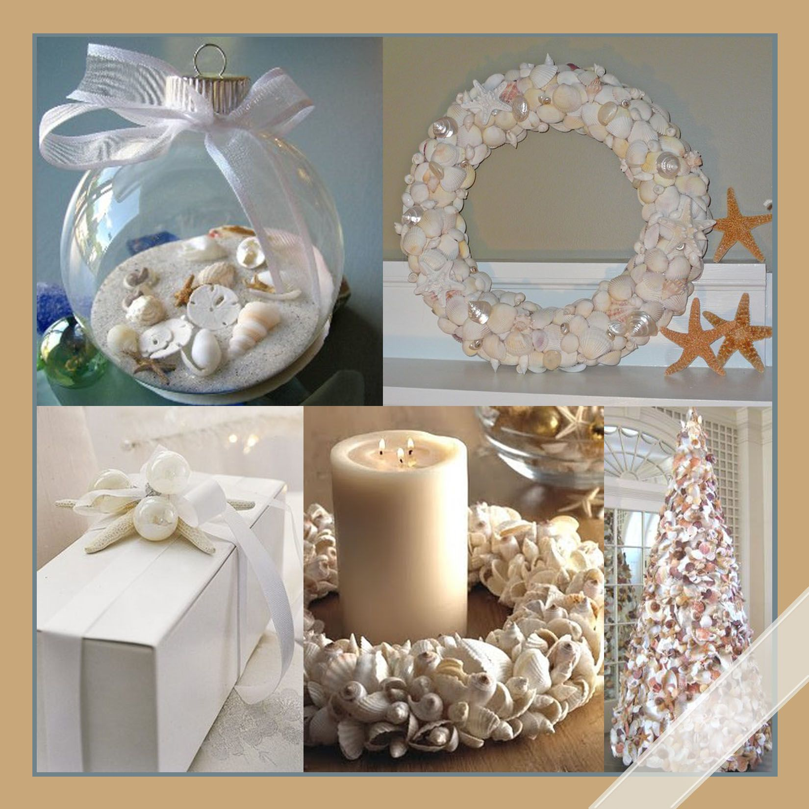 A Simple Beach themed Christmas Beach christmas decor Beach