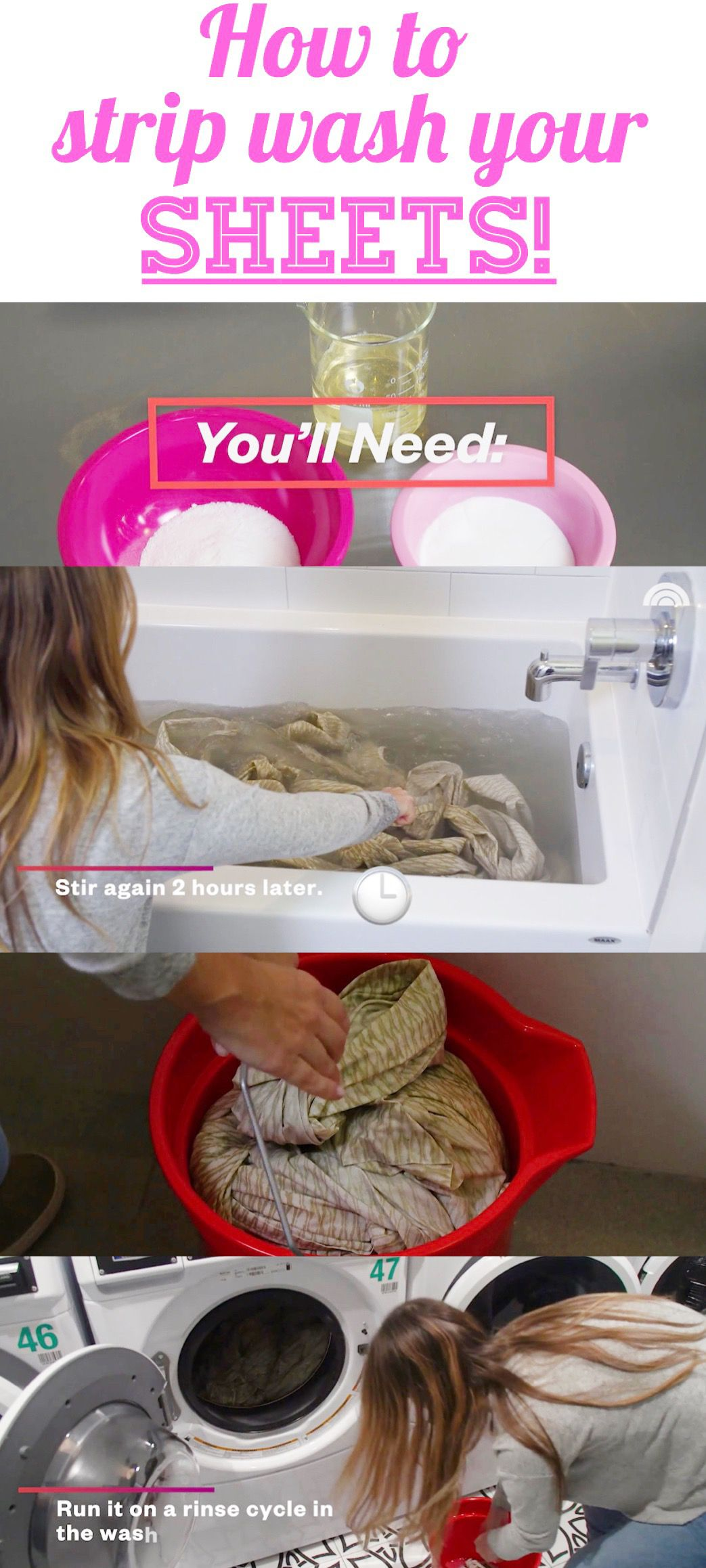 How To Strip Wash Sheets Cleaning Clothes How To Clean Bed Clean Bed