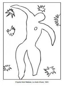 Coloriage Henri Matisse La Chute DIcare