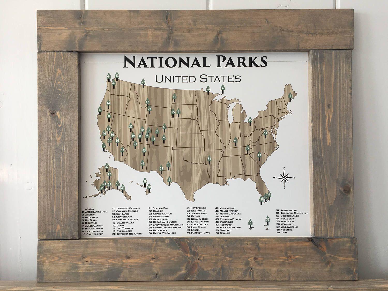 National Park Poster National Parks Poster Adventure Map Etsy National Park Posters National Parks Map National Parks