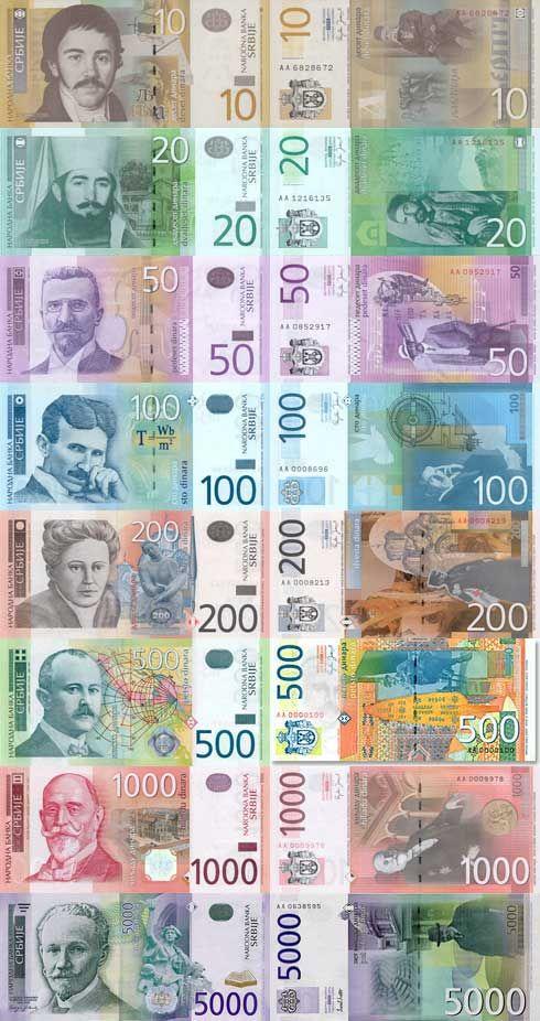 Serbian Dinar Money Com Imagens