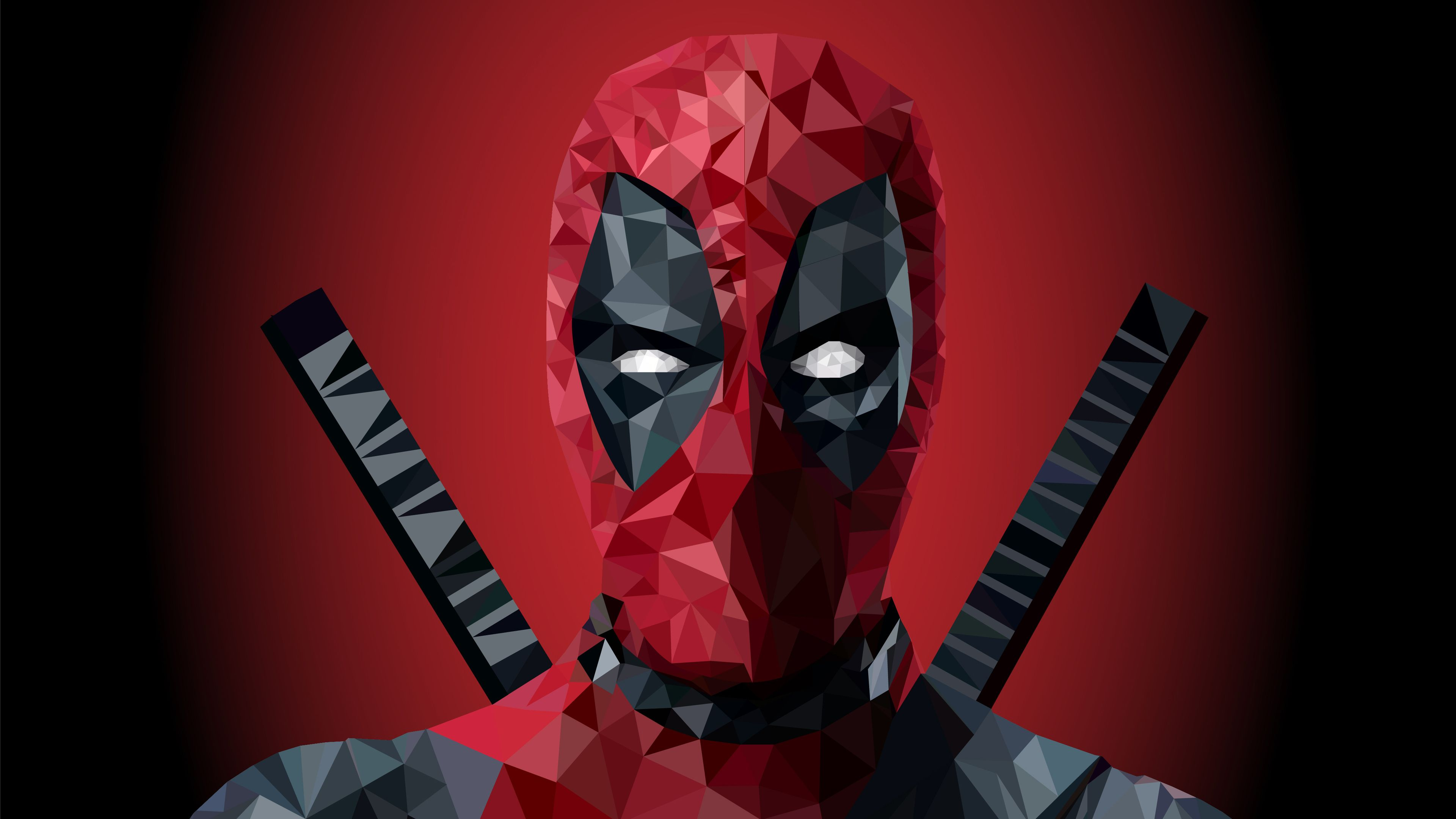 Deadpool Low Poly Art 4k Superheroes Wallpapers Hd Wallpapers Digital Art Wallpapers Deviantart Wallpapers Deadpool Wallpaper Low Poly Art Deadpool Artwork