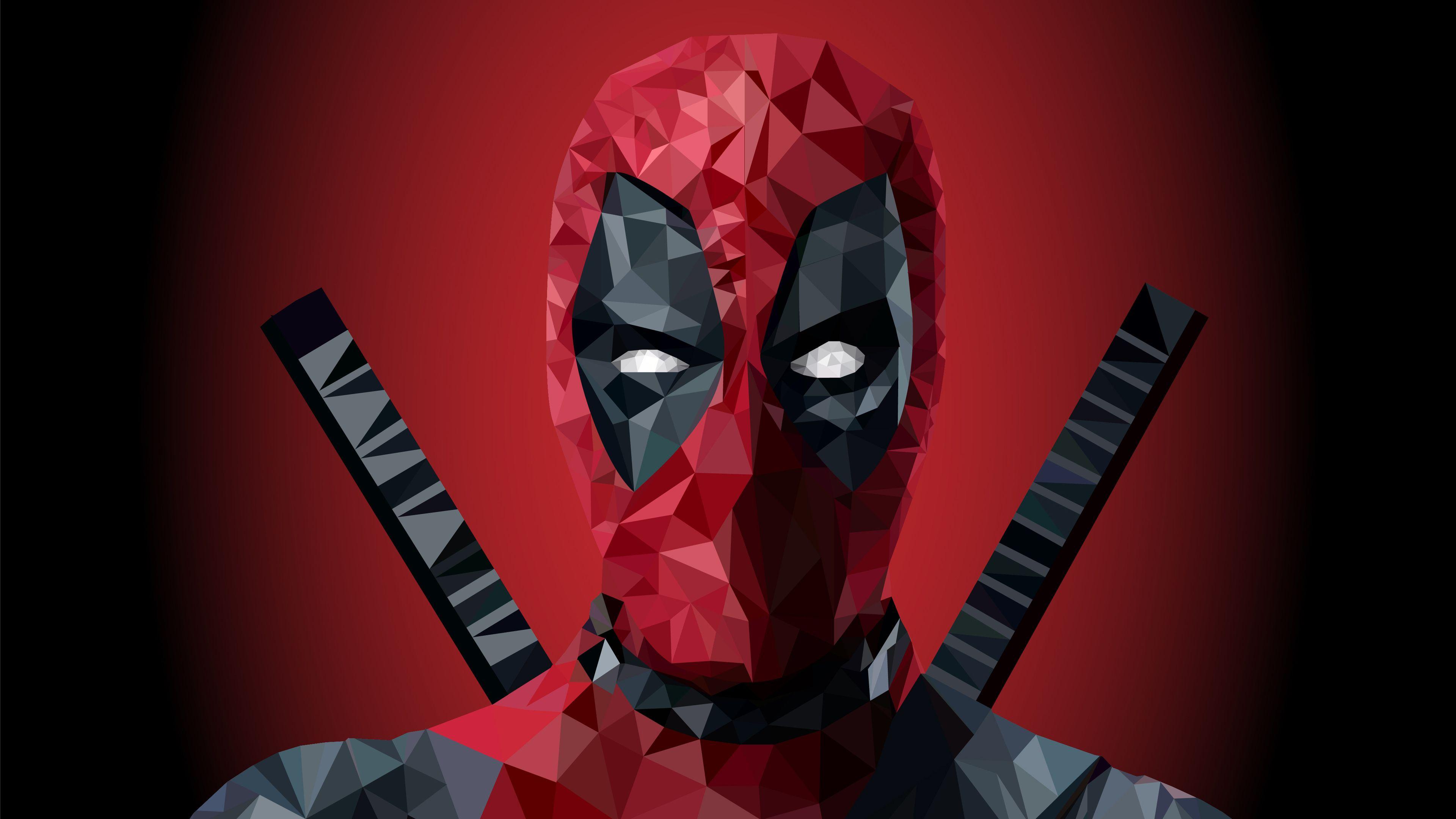 Wallpaper 4k Deadpool Low Poly Art 4k 4kwallpapers