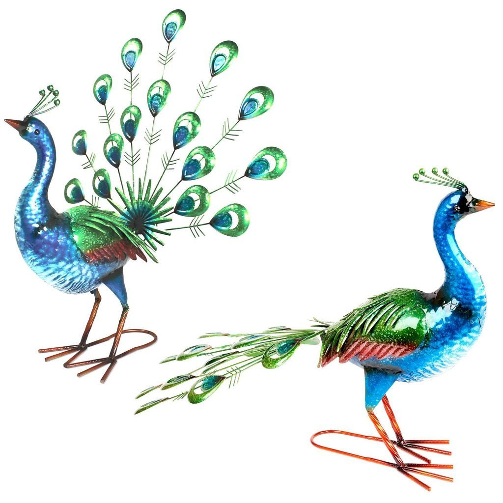Shiny Painted Metal Peacock Garden Ornaments   House   Pinterest   Garden  Ornaments, Peacocks And Metals