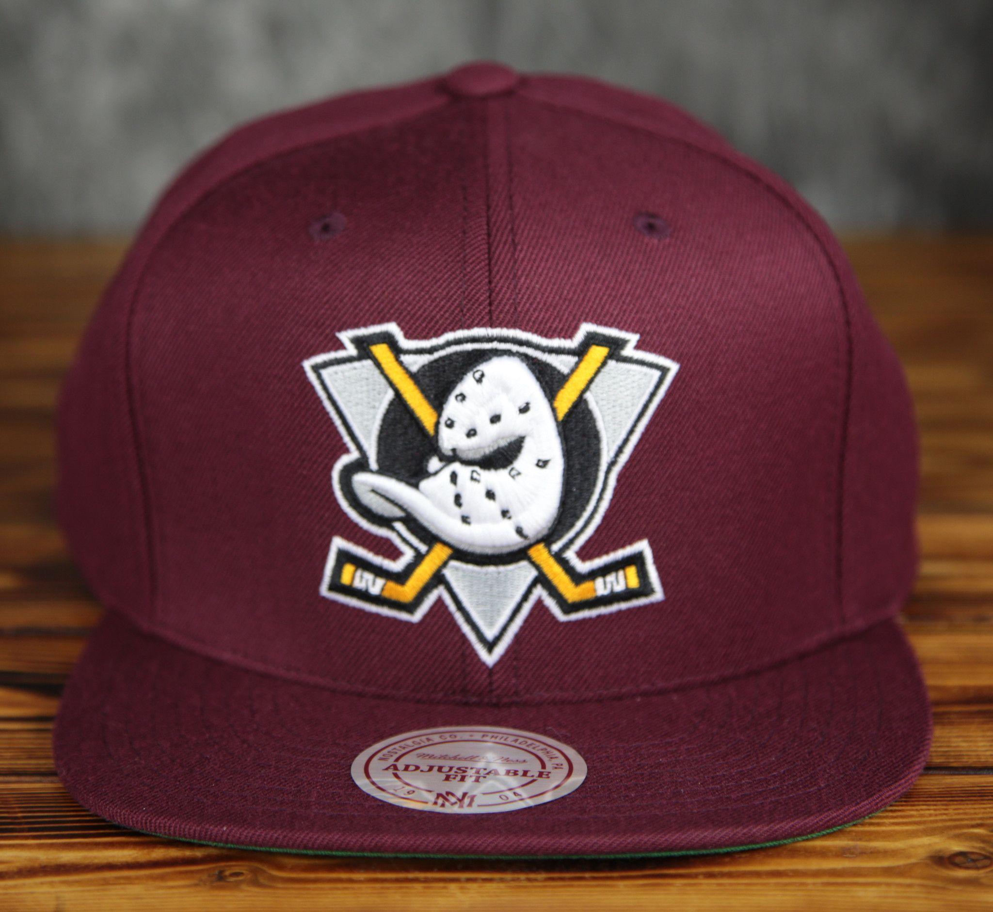 Mighty Ducks Mitchell   Ness 20th Anniversary Snapback Hat  93b051ed3541