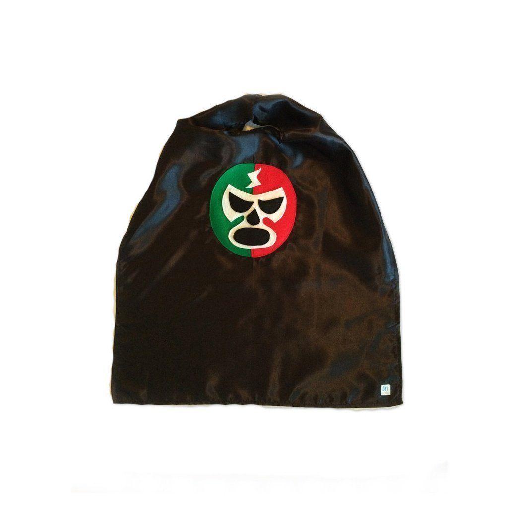 fab2895004402 Luchador Rojo + Verde - Red + Green Mexican Wrestler Cape - Black ...