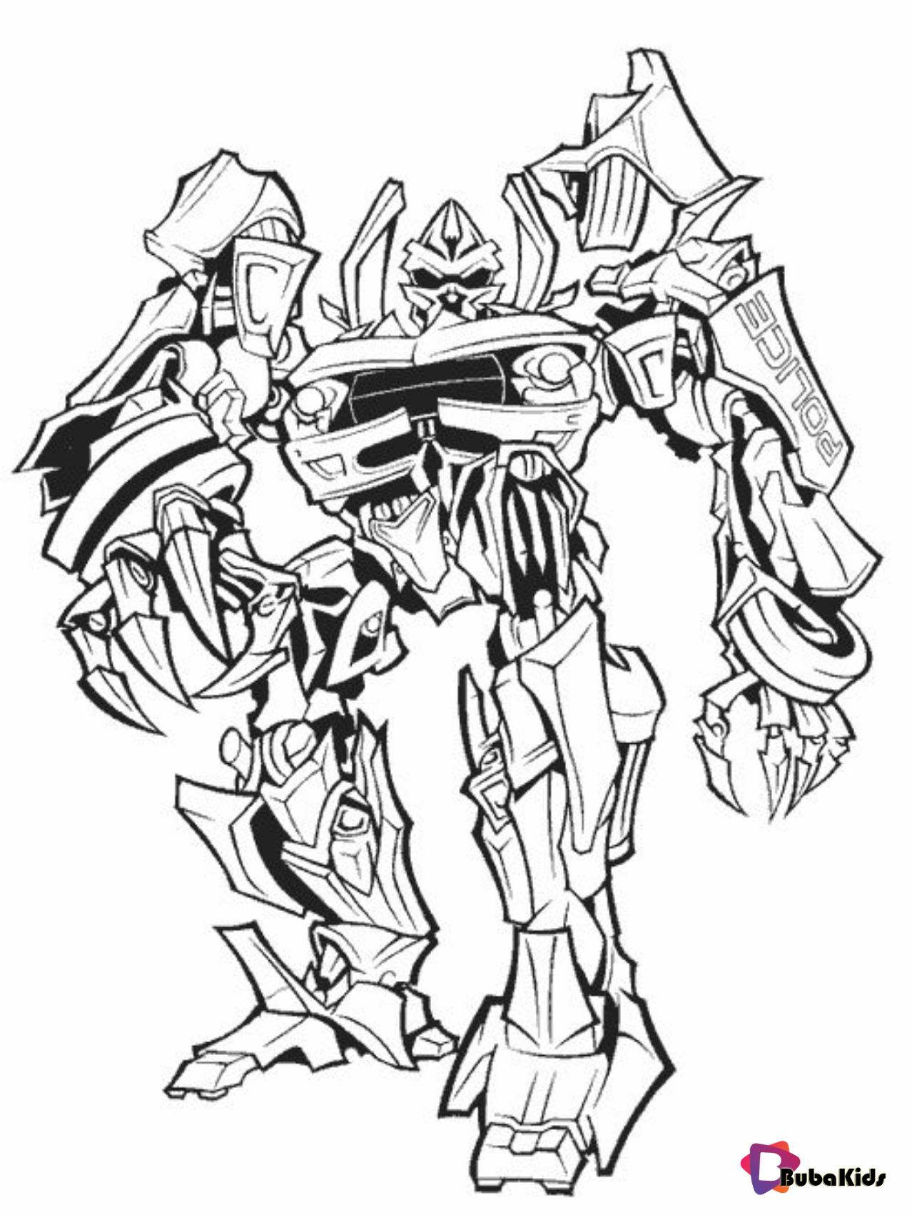 Transformer Coloring Pages And Printable On Bubakids Com Coloring Sheet Transformer Colori Transformers Coloring Pages Coloring Pages Cartoon Coloring Pages