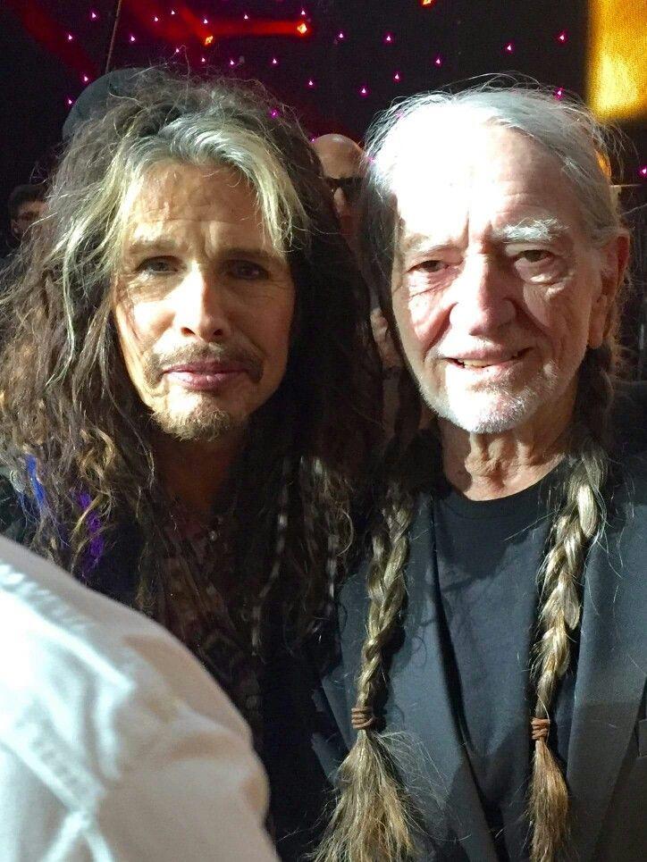 Steven Tyler and Willie Nelson
