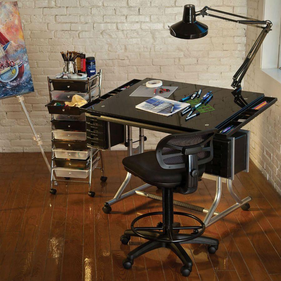 Alvin Craftmaster Ii Glass Top Craft And Drawing Table Cm48gl Drawing Table Artist Drawing Table Tattoo Studio Interior