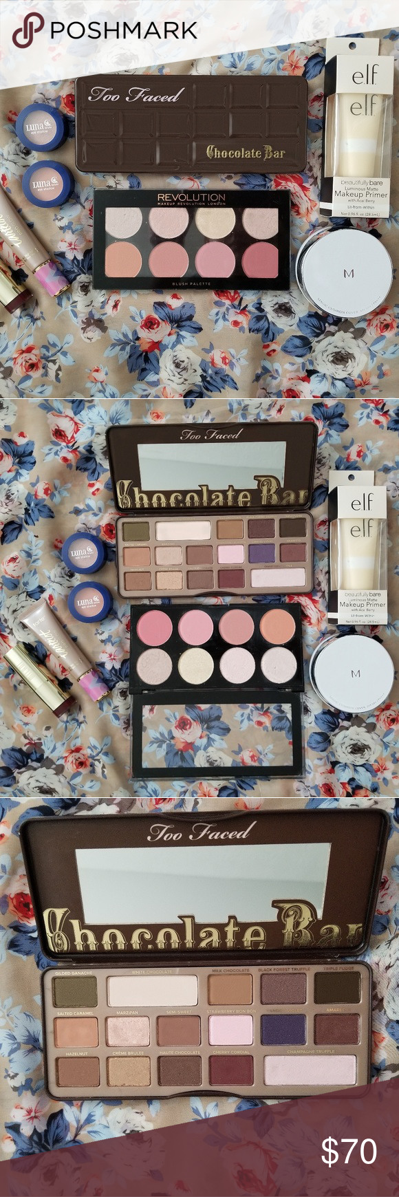 Too Faced Chocolate Bar Palette Package Full face of