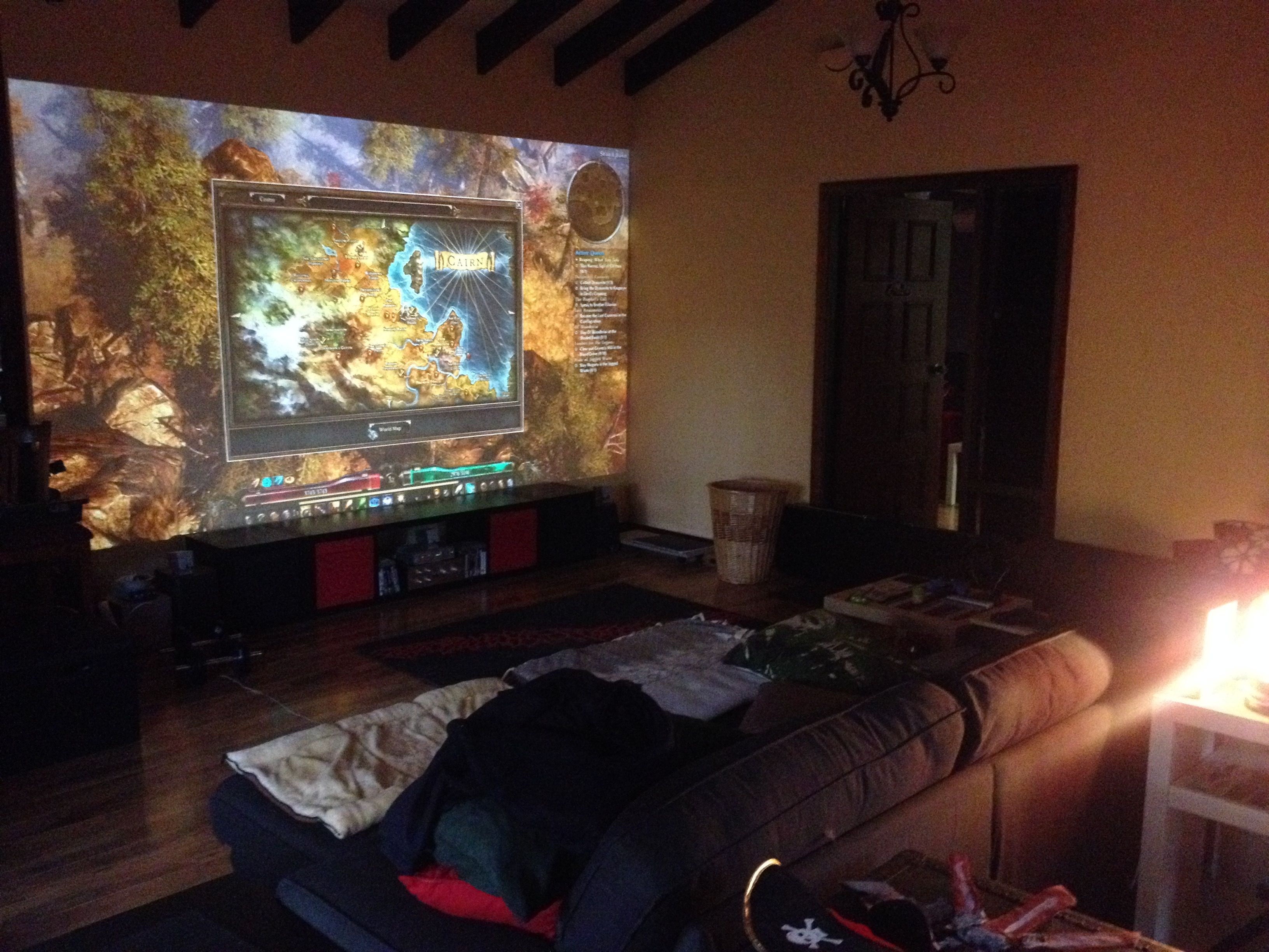 My Pc Gaming Projector Room Thingy
