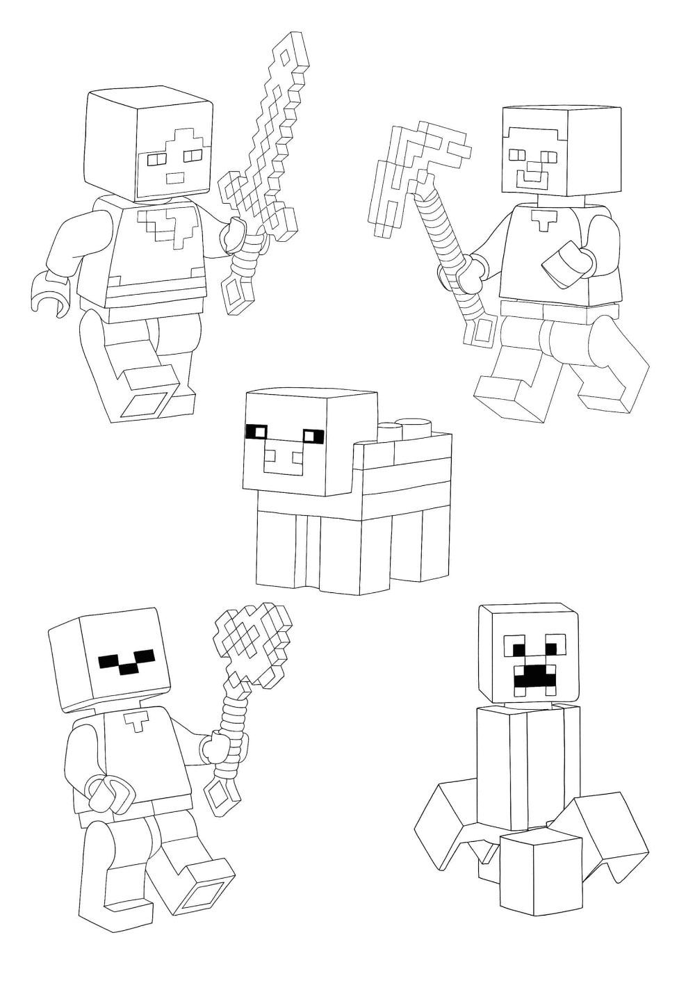 Minecraft Lego Characters Coloring Pages 2 Free Coloring Sheets 2021 In 2021 Coloring Pages Free Coloring Sheets Minecraft Coloring Pages