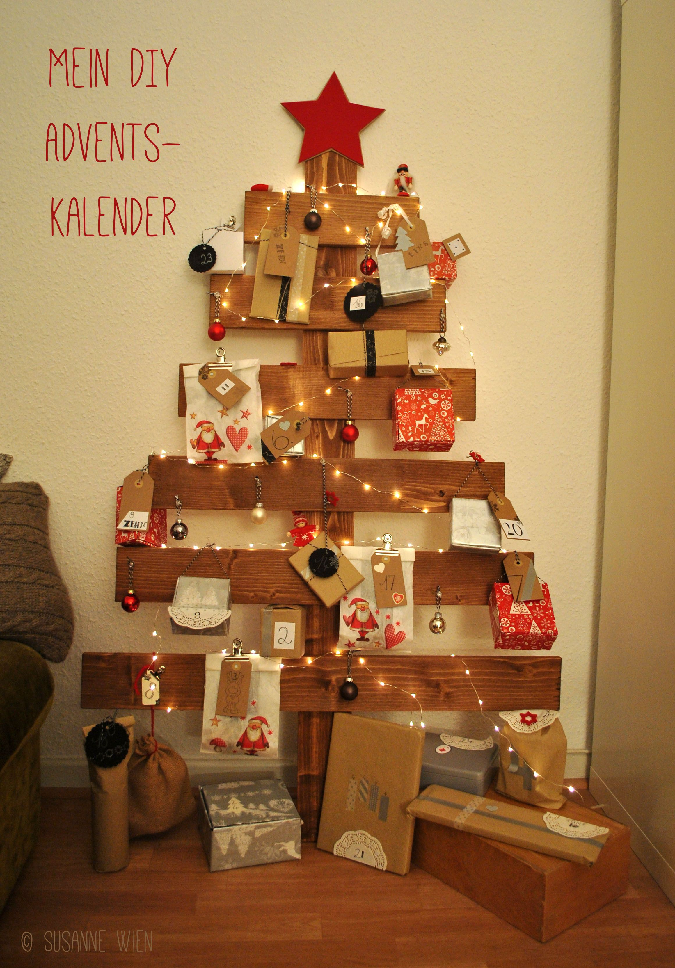 mein diy adventskalender aus einem alten lattenrost christmas upcycling ideen rund ums. Black Bedroom Furniture Sets. Home Design Ideas