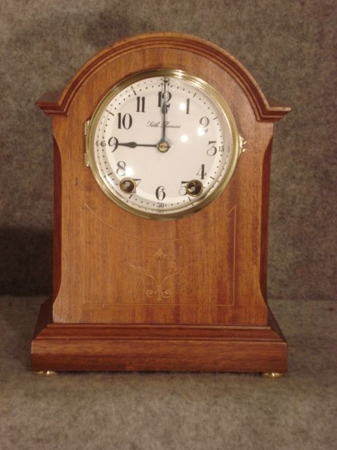 The Eton Seth Thomas Circa 1915 Mahogany Clock Antique Clocks Mantel Clock