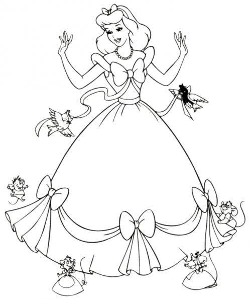 Cinderella Coloring Page Buku Mewarnai Lembar Mewarnai Halaman