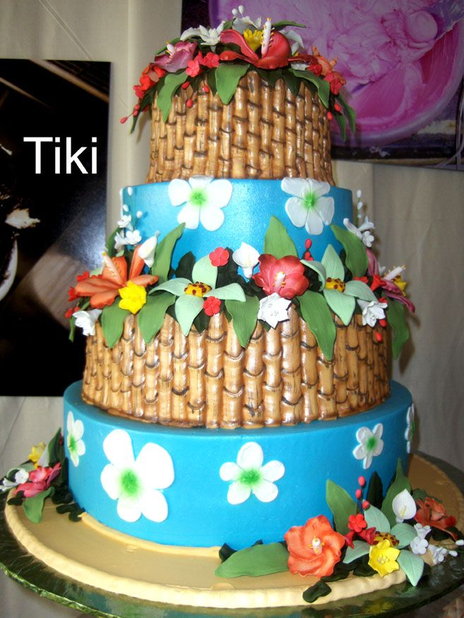 tropical themed wedding cakes hawaiian cake 16th birthday bash ideas 21273