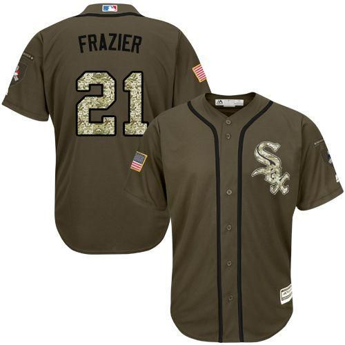 Chicago White sox #21 Todd Frazier Green Salute to Service Stitched MLB Jersey