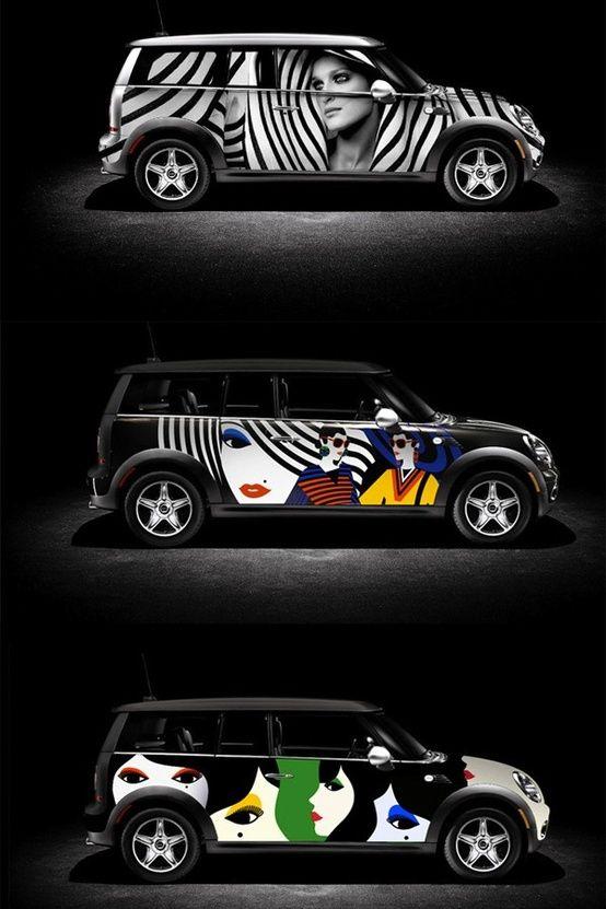 For Mini Cooper Car Vehicle Personalized I LOVE MINI Sticker