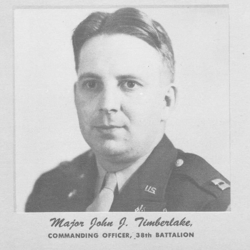 Major John J. Timberlake, 1943; CO, 38th Battalion (Cook's Section)