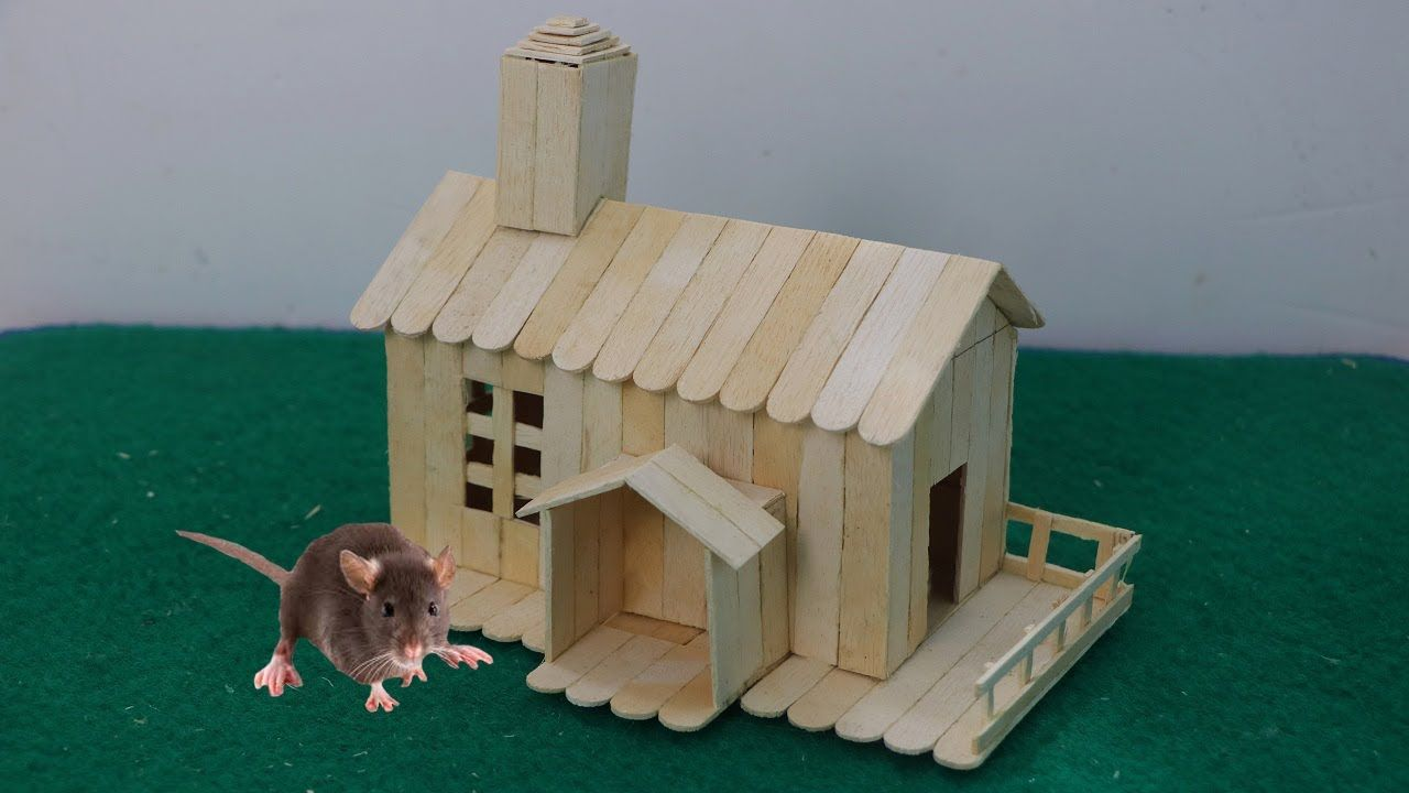 How to make ice cream stick house for rat miniaturas com palito how to make ice cream stick house for rat ccuart Choice Image