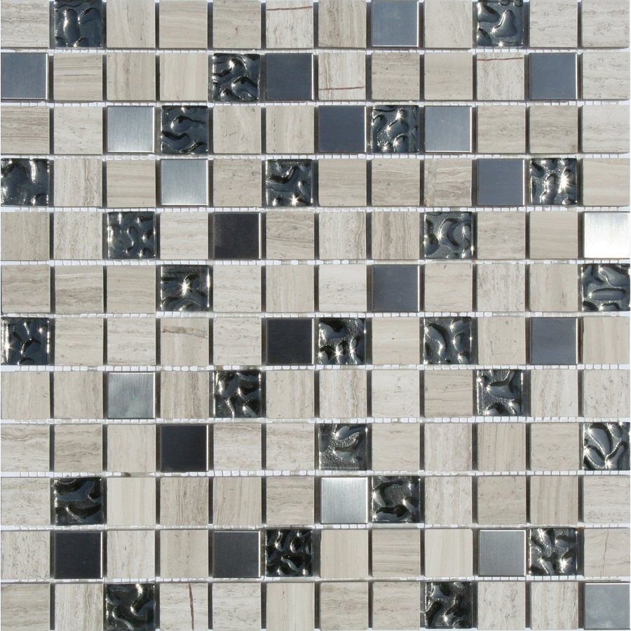 Faber 12 In X Sterling Blends Mosaic Wall Tile Lowe S Canada