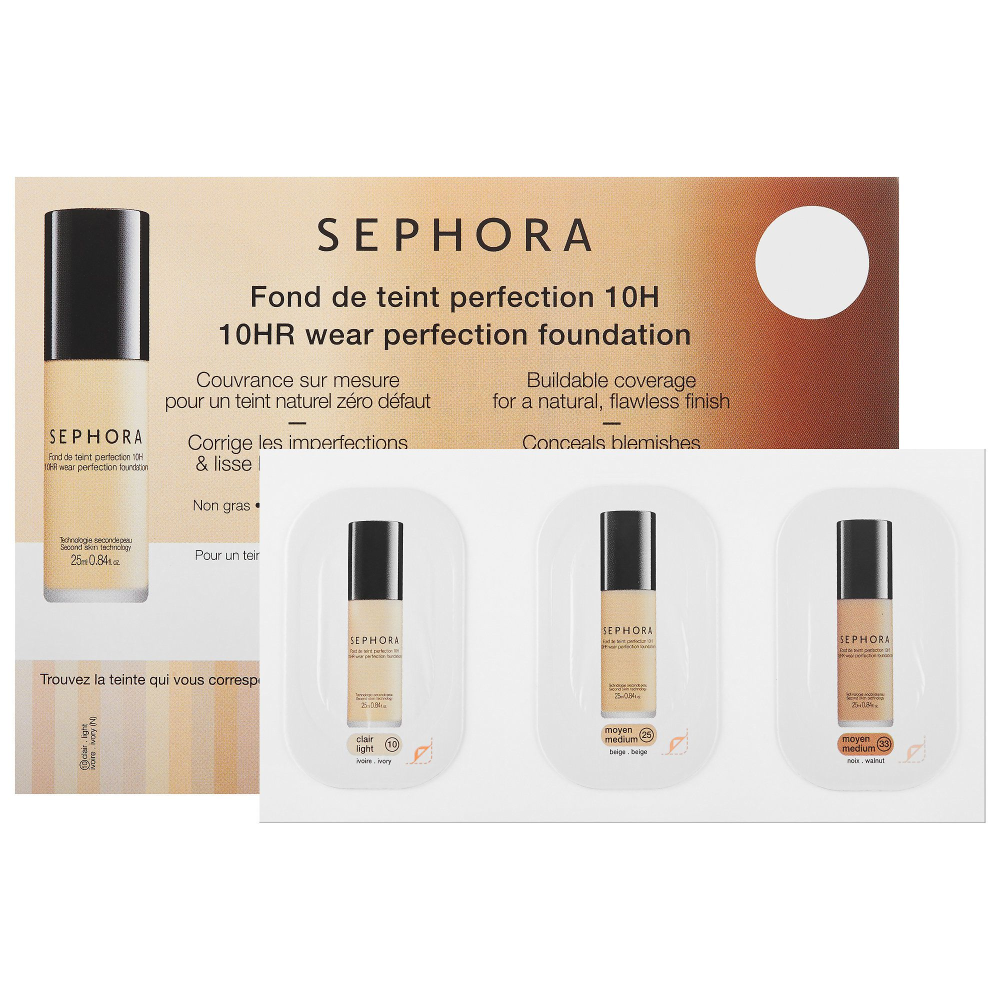 Sephora, 10HR Wear Perfection Foundation samples | beauty
