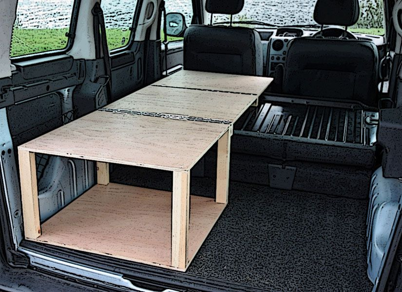 Citroen Berlingo Peugeot Partner Fiat Doblo Renault Kangoo Camper Van Conversion Module For Only Delivery To Any UK Mainland Address From
