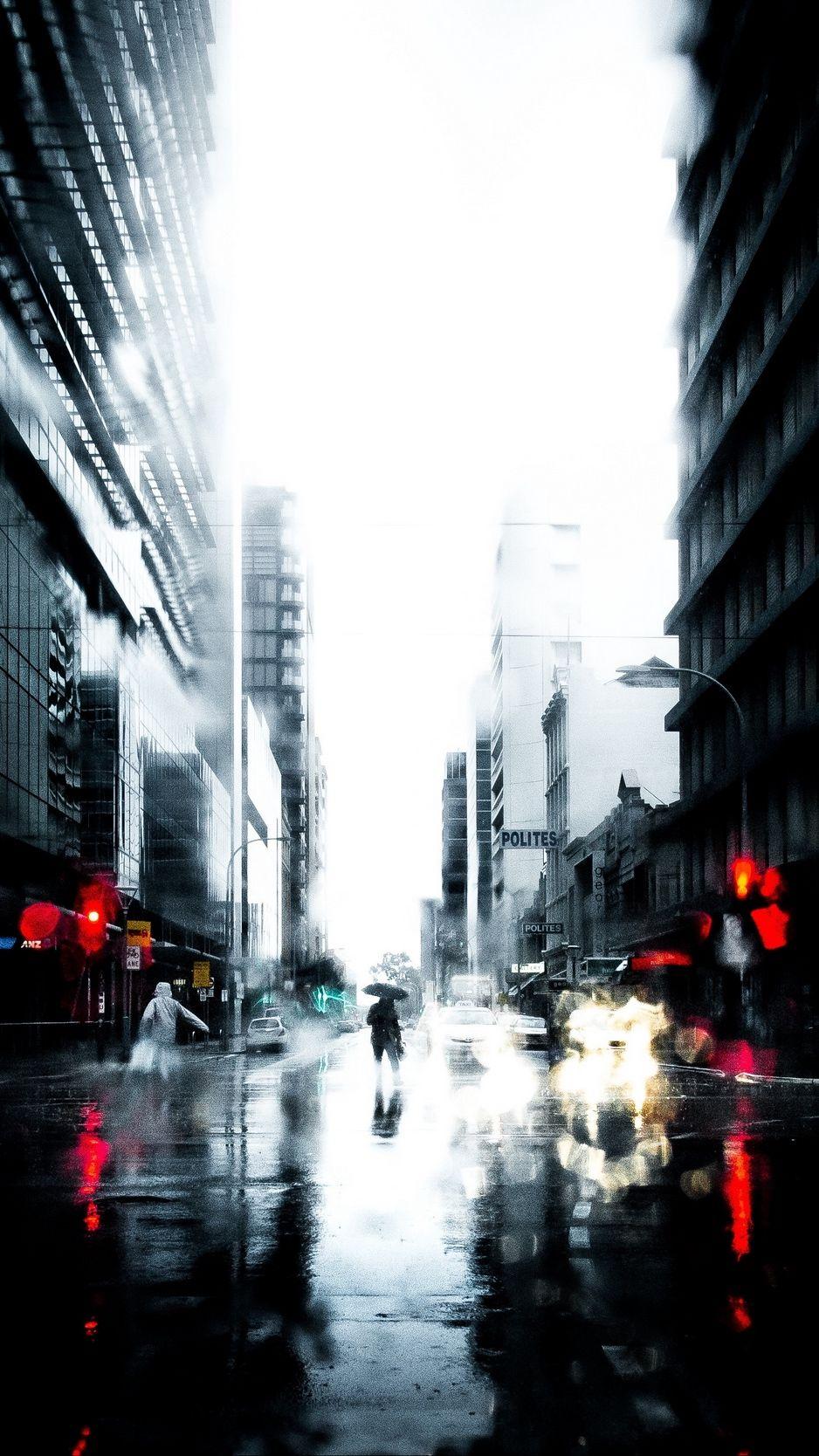 Silhouette Rain Loneliness City Wallpaper Background City Wallpaper Background City Lights Wallpaper