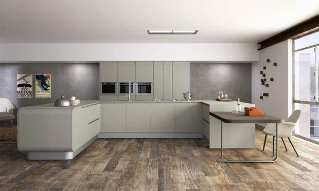แบบครัวปูน สไตล์โมเดิร์น For the Home Pinterest Loft kitchen - nolte k che lago