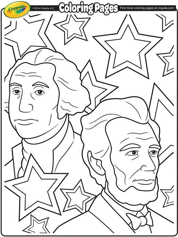 George Washington and Abraham Lincoln on crayola.com