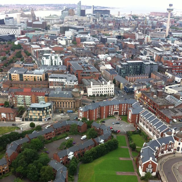 Liverpool City Centre Taken From The Top Of The Anglican Cathedral Tower Liverpool Uk Liverpool Liverpool Town
