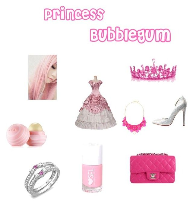 """Princess Bubblegum"" by minervabollers ❤ liked on Polyvore featuring beauty, Eos, Chanel, George J. Love and Charlotte Russe"