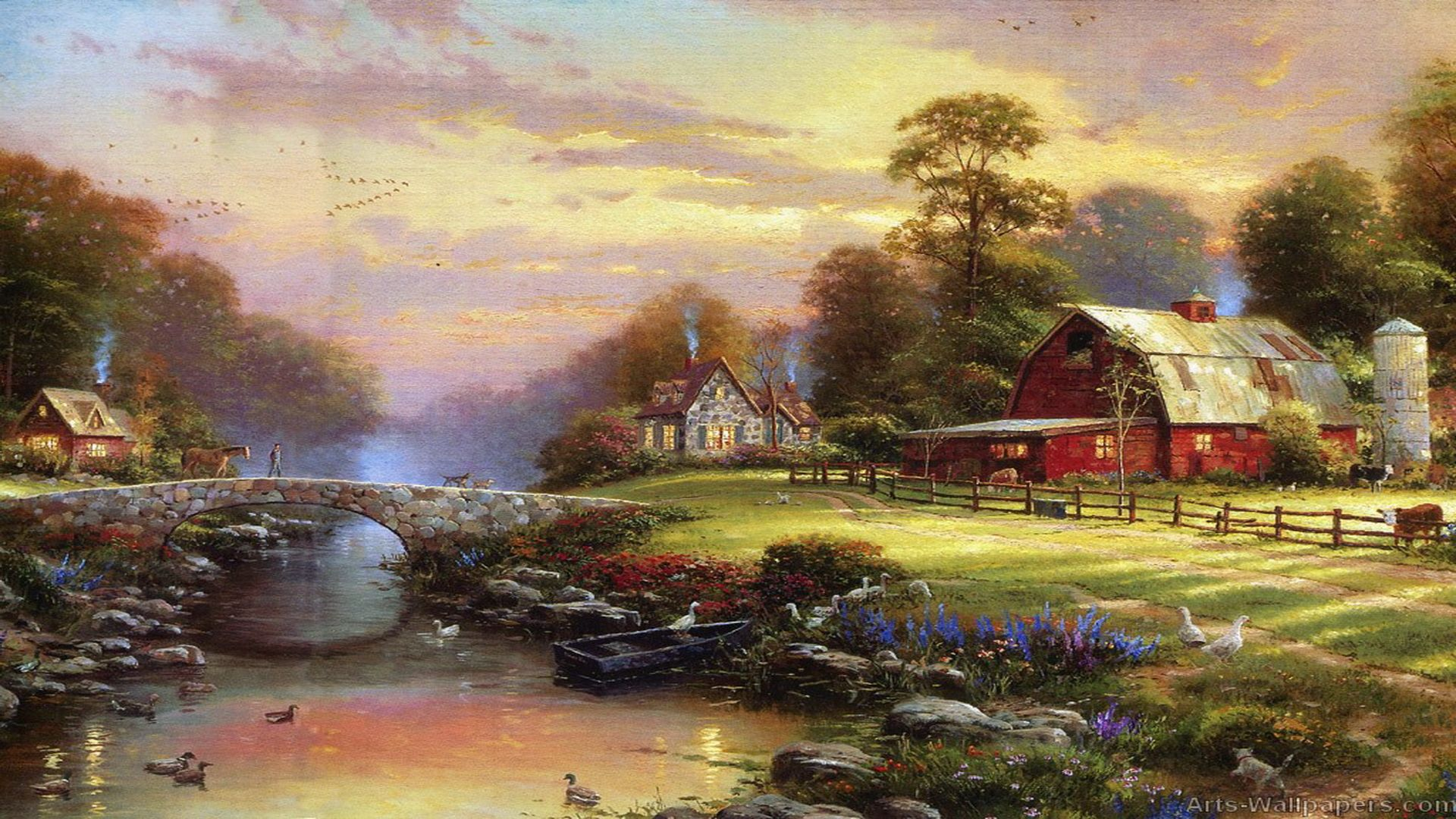 """an analysis of the works of thomas kinkade an american painter Thomas kinkade, cobblestone village, 1998 courtesy of  douglas's most spectacular analysis illuminates the system of  the self-described """"painter of light,"""" thomas kinkade, whose works, such as the one described above, have allegedly graced one in twenty american homes in the past two decades."""