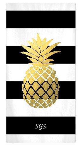 Best Monogrammed Beach Towels Ideas On Pinterest Custom - Black and gold hand towels for small bathroom ideas