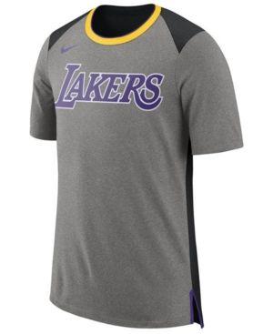 9bc3e1ed Nike Men's Los Angeles Lakers Basketball Fan T-Shirt - Gray XXL ...