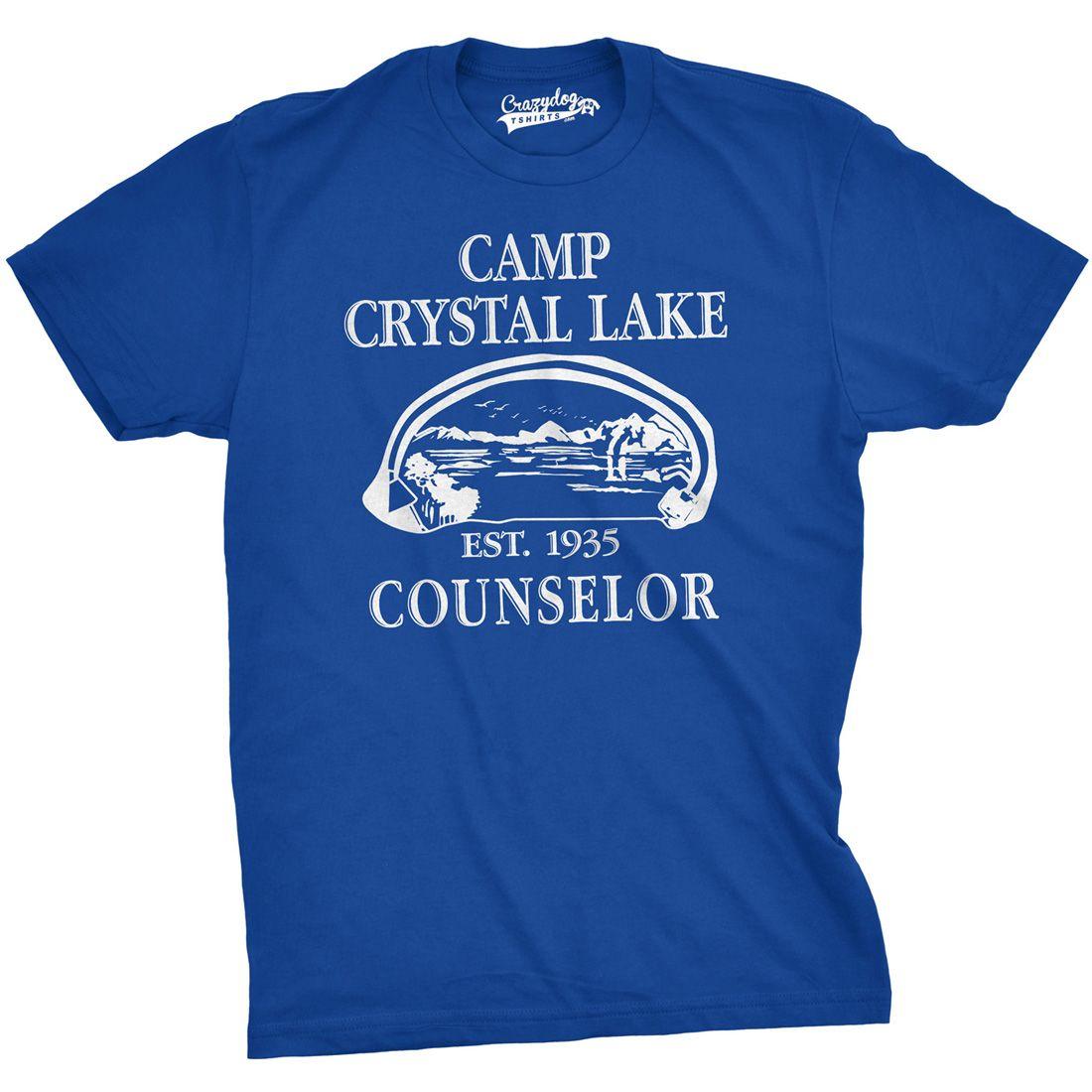 05081e94fc37 Camp Crystal Lake Men's Tshirt | Get Outside | Horror movie t shirts ...