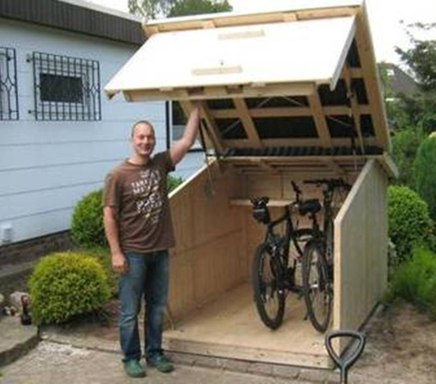 For More Great Pics Follow Bikeengines Com Bicycle Storage Fahrradgarage Storage Shed Plans Building A Shed Shed