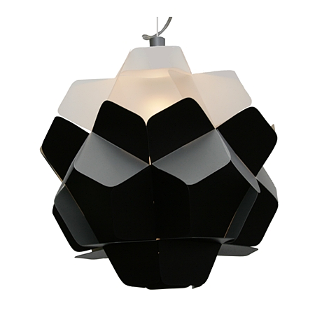 "BERGA Lamp - Kafti Design  The word ""BERGA"" in Silesian dialect stands for ""mass"". The design is based on classical geometric form, although the idea of lampshade is based on the contrast."