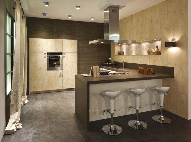 Keuken met bar mykitchen pinterest bar keuken en keukens - Lounge en keuken in dezelfde kamer ...