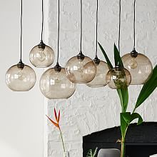Contemporary Home Lighting & Decorative Lighting   West Elm   Glass Orb Chandelier