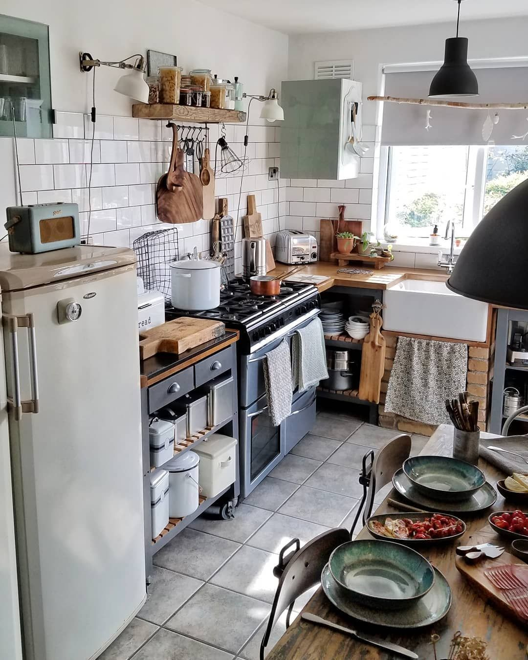 image may contain kitchen indoor and food bohemian kitchen kitchen design interior design on boho chic interior design kitchen id=53626