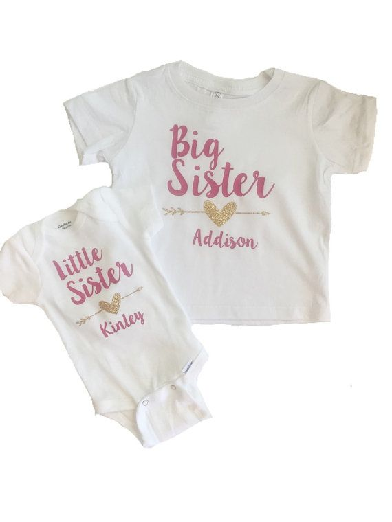 97072e394 Babies Clothes · Big Sister Little Sister shirt/onesie set At checkout  leave a note with the names