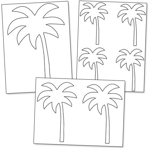 picture relating to Tree Template Printable named Printable Palm Tree Template against