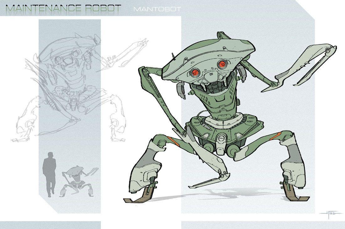 Maintenance Unit - Mantobot by Hideyoshi