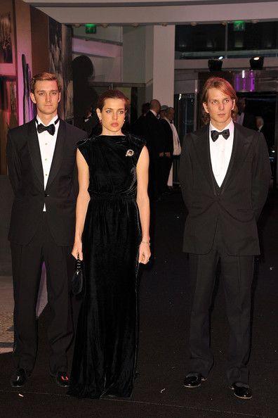 Andrea Casiraghi,Charlotte Casiraghi and Pierre Casiraghi. The children of Caroline of Monaco.