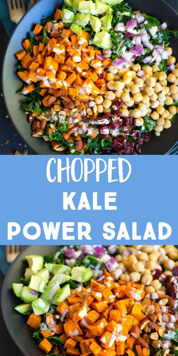 Chopped Kale Power Salad with Lemon Tahini Dressing images