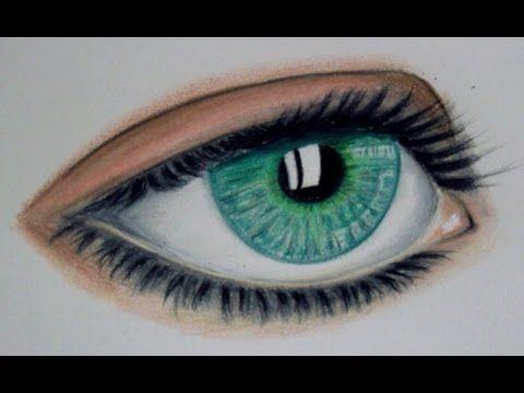 Como Dibujar Un Ojo Con Colores Simples Prismacolors Dibujos De Ojos Como Dibujar Ojos Pintar Ojos